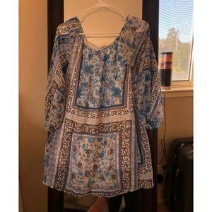 Sheer off-the shoulder dress